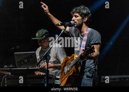 "Italian singer and songwriter Luca Carboni, performs live on stage at Cantina dei Colli Ripani in Ripatransone during his ""Sputnik Tour 2019"". 