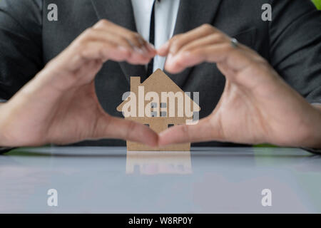 Insurance Home House Life Protection Protect Concepts. - Stock Photo