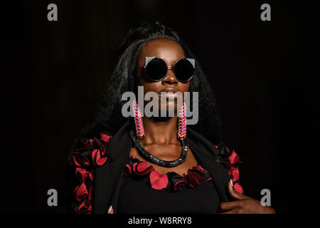 London, UK. 10th August, 2019. London, UK. 10th Aug, 2019. African Fashion Week London 2019 #AFWL2019 - Day 2 at Freemasons Hall on 10 August 2019, London, UK. Credit: Picture Capital/Alamy Live News Credit: Picture Capital/Alamy Live News - Stock Photo