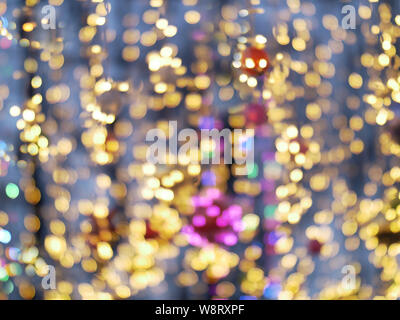 Multi-colored lanterns blurred background, holiday concept - Stock Photo