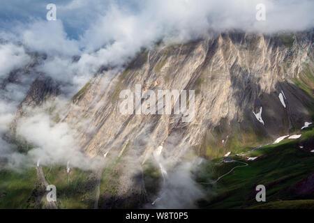 Geological features. Kodnitztal. Glocknergruppe massif. Austrian Alps. - Stock Photo