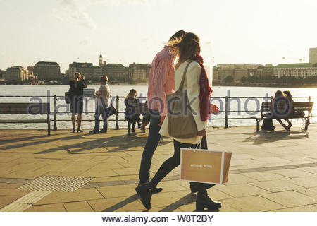 Hamburg, Stadt an der Alster - Stock Photo