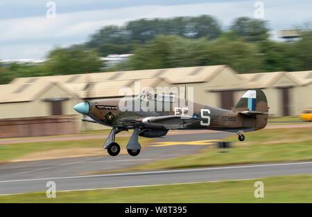 RAF BBMF Hawker Hurricane at the Royal International Air Tattoo 2019 - Stock Photo