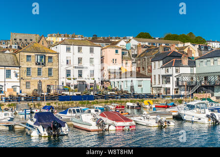 Custom House Quay in Falmouth. Cornwall, England, UK. - Stock Photo