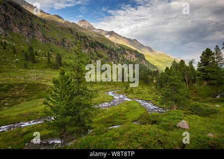 Debanttal.(Lienzer). Alpine landscape. Schobergruppe mountain massif. . Hohe Tauern National Park. Austria. - Stock Photo