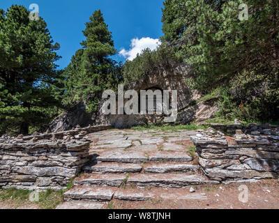 The DAV German Alpine Club war memorial near the Berliner Hut in the Zillertal Alps close to the resort town of Mayrhofen in the Austrian Tirol - Stock Photo