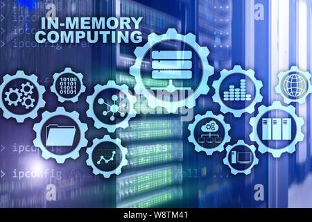 In-Memory Computing. Technology Calculations Concept. High-Performance Analytic Appliance. - Stock Photo
