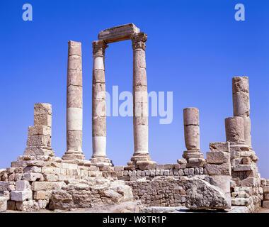 Temple of Hercules, The Citadel, Amman, Kingdom of Jordan - Stock Photo