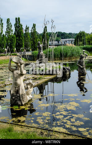 This former residence of the Prussian rulers is a city of palaces and gardens in a style that's even been given its own name: Potsdam Rococo. - Stock Photo