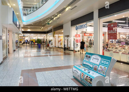 Lowry Outlet Shopping Centre interior, MediaCityUK, Salford Quays, Salford, Greater Manchester, England, United Kingdom - Stock Photo