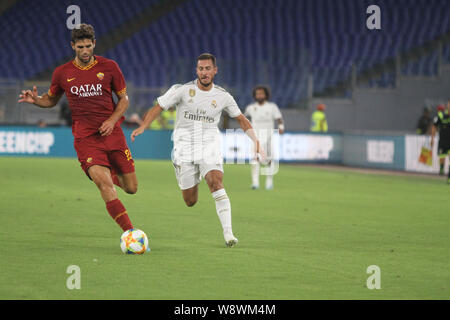 Rome, Italy. 11th Aug, 2019. Stadio Olimpico of Rome, AS Roma beat Real Madrid 7-6 after penalty shoots, for the first edition of Mabel Green Cup. (Photo by Paolo Pizzi/Pacific Press) Credit: Pacific Press Agency/Alamy Live News - Stock Photo