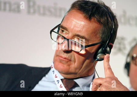 Jim O'Neill, retiring chairman of Goldman Sachs Asset Management, listens during the 1st UK-China Business Leaders Summit in London, Britain, 2 June 2 - Stock Photo