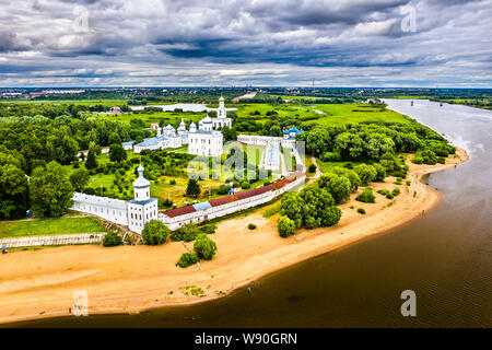 Aerial View Of St George S Cathedral Cathedral In St George S Yuriev Russia Stock Photo Alamy