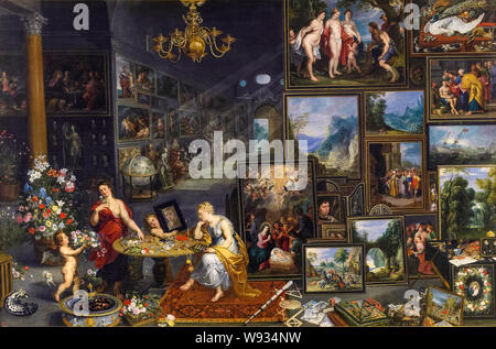 Jan Brueghel the Elder, painting, Allegory of Sight and Smell, circa 1620 - Stock Photo