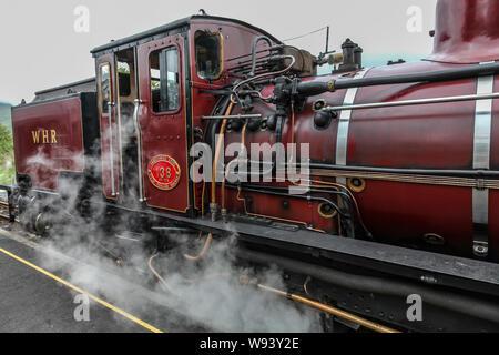 WHR. Welsh highland railway steam engine
