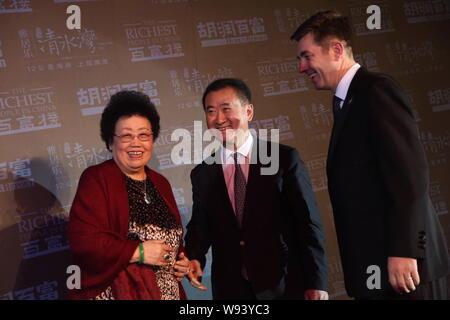 FILE--Wang Jianlin, Chairman of Dalian Wanda Group, poses