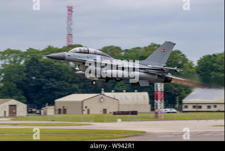 Danish F-16, at the Royal International Air Tattoo 2019 - Stock Photo
