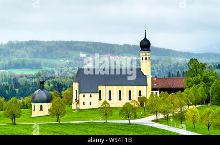 Pilgrimage Church in Wilparting, Irschenberg - Bavaria, Germany - Stock Photo