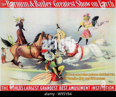 BARNUM &  BAILEY CIRCUS poster about 1899 - Stock Photo