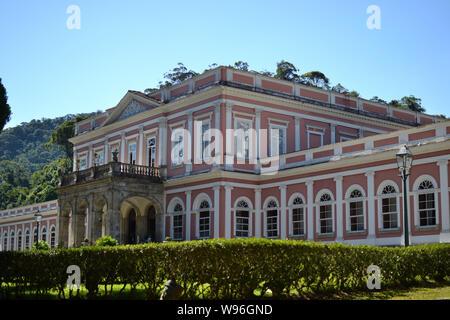 PETROPOLIS, RIO DE JANEIRO, BRAZIL. AUG 08 2019: Imperial museum of Petropolis. Summer residence of brazilian emperor. - Stock Photo