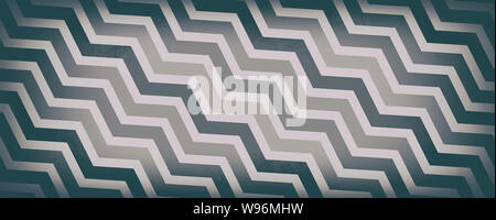 diagonal chevron stripes in shades of gray brown and white, abstract vintage or retro design, geometric pattern background - Stock Photo