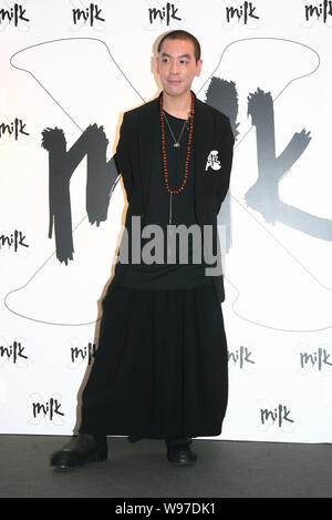 Hong Kong singer JunoMak poses as he attends the celebratory ceremony of the 6th anniversary of MILK X in Hong Kong, China, 18 September 2012. - Stock Photo