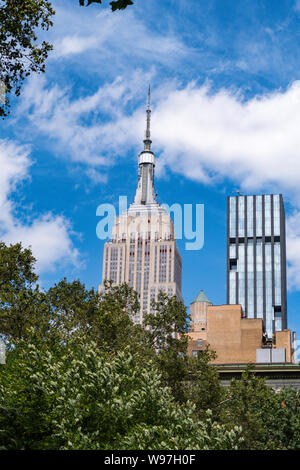 Madison Square Park is at Fifht Avenue and 23nd Street, NYC, USA - Stock Photo