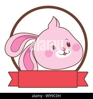 Mid autumn rabbit face cartoon - Stock Photo