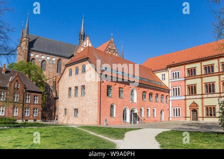 Colorful buildings of the Furstenhof palace in Wismar, Germany - Stock Photo
