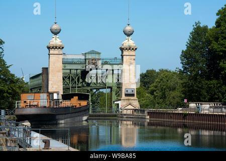 Deutschland, Ruhrgebiet, Kreis Recklinghausen, Henrichenburg, Altes Schiffshebewerk (Ansicht von Osten)
