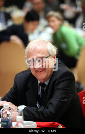 German Economy Minister Rainer Bruederle is seen at a breakfast event of the German Chamber of Commerce in Shanghai, China, 13 October 2010.   German - Stock Photo