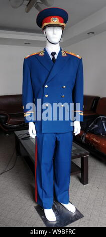 --File-- View of a service uniform produced by Jihua Group in Nanjing, east Chinas Jiangsu Privince, August 21, 2009.   Chinas biggest military supply - Stock Photo