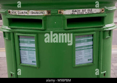 Postbox outside a post office in Dublin,Republic of Ireland - Stock Photo