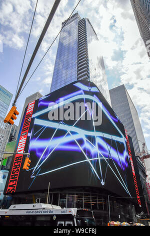 Times Square Street corner 47th st and 7th Ave, Manhattan, New York City, USA. - Stock Photo