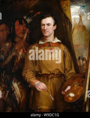 William Fisk, George Catlin, artist, 1796-1872, portrait painting, 1849 - Stock Photo