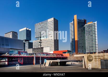 Barcelona City, Diagonal Mar District, Skyline - Stock Photo