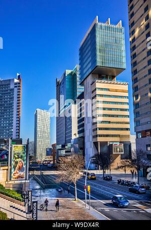 Barcelona City, Diagonal Mar District, - Stock Photo