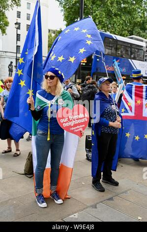 SODEM Stop Brexit Protest, The Cabinet Office, Whitehall, London. UK - Stock Photo