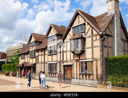 Stratford-upon-Avon William Shakespeare's birthplace Stratford upon Avon Warwickshire England UK GB Europe - Stock Photo
