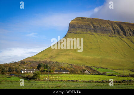 Benbulbin in County Sligo, Ireland - Stock Photo