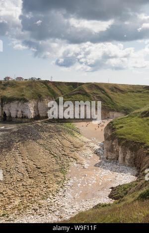 Thornwick Bay near Flamborough Head on the East Yorkshire coast - Stock Photo