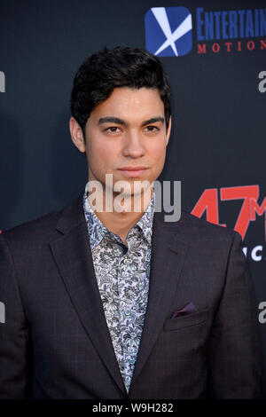 Los Angeles, USA. 13th Aug, 2019. LOS ANGELES, USA.: Davi Santos at the premiere of '47 Meters Down: Uncaged' at the Regency Village Theatre. Picture Credit: Paul Smith/Alamy Live News Stock Photo