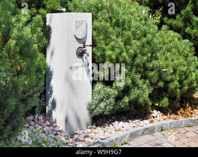 Trinkwasser Brunnen in Beinwil am See AG beim Bahnhof - Stock Photo