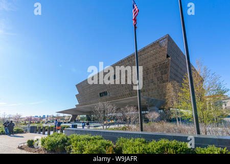 The National Museum of African American History and Culture in spring, Washington D.C., United States of America, North America