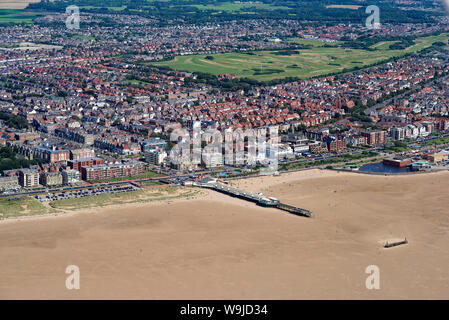 An aerial view of Lytham St Annes, Fylde Coast, North West England, UK - Stock Photo