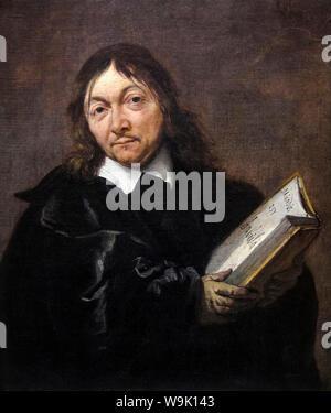 René Descartes, (1596-1650), portrait painting by Jan Baptist Weenix, 1647-1649 - Stock Photo