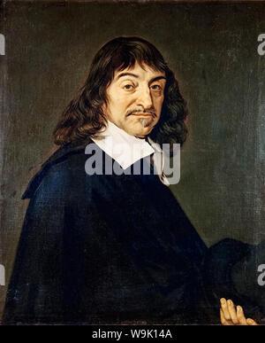 René Descartes (1596-1650), portrait painting after Frans Hals, 1649-1700 - Stock Photo