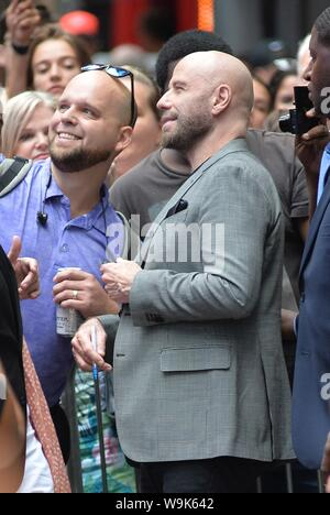 New York, NY, USA. 14th Aug, 2019. John Travolta out and about for Celebrity Candids - WED, New York, NY August 14, 2019. Credit: Kristin Callahan/Everett Collection/Alamy Live News - Stock Photo