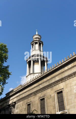 The octagonal stone tower of the parish church of St Pancras, London, UK; built in the Greek Revival style in 1822. - Stock Photo