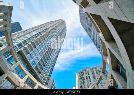 Toronto, Ontario, Canada-20 March, 2019: Toronto Condominium in a trendy district near Yonge and Eglinton intersection - Stock Photo